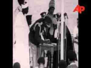 Swearing-In Of Nnamdi AzikiweAsThe First President Of Nigeria In 1963 (Rare Video)